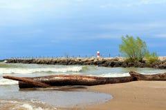 Línea de la playa del lago Ontario Imágenes de archivo libres de regalías