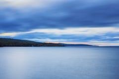 Línea de la playa del lago Superior Fotografía de archivo