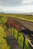 Línea de la playa del río del St. Lorenzo Fotografía de archivo