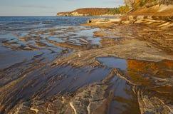 Línea de la playa del superior de lago Fotografía de archivo