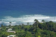 Línea de la playa en el Caribe Fotos de archivo libres de regalías