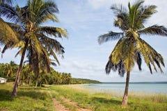 Línea de la playa en Mozambique, África Foto de archivo