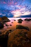 Línea de la playa escandinava Foto de archivo