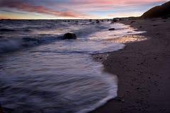 Línea de la playa a lo largo del parque de estado de Wildwood Foto de archivo