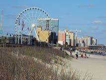 Línea de la playa de Myrtle Beach fotos de archivo libres de regalías