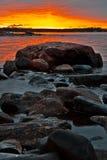 Línea de la playa norteña Foto de archivo libre de regalías