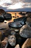 Línea de la playa norteña Foto de archivo