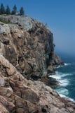 Línea de la playa rocosa del acadia Foto de archivo libre de regalías