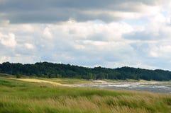 Línea de la playa y playa Fotos de archivo libres de regalías