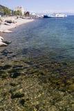 Línea de la playa y playa del océano Fotografía de archivo libre de regalías