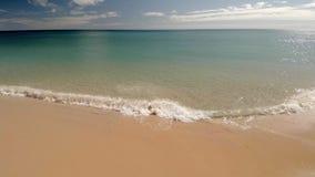 Línea de la playa y una playa almacen de video