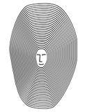 Línea de la psicología del vector Foto de archivo libre de regalías