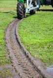 Línea de la rueda de la irrigación Fotos de archivo