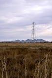 Línea de la transmisión tower Fotografía de archivo libre de regalías