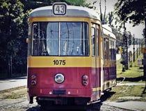 Línea 43 de la tranvía Imagenes de archivo
