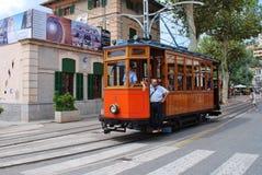 Línea de la tranvía de Soller del vintage, Majorca Foto de archivo libre de regalías