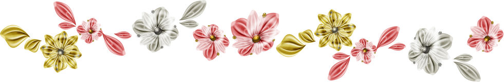 Línea de las flores Fotos de archivo libres de regalías