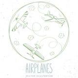 Línea de los aviones Fotografía de archivo
