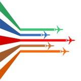 Línea de los aviones Foto de archivo