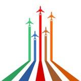 Línea de los aviones Fotografía de archivo libre de regalías
