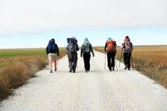 Línea de los peregrinos Imagen de archivo libre de regalías