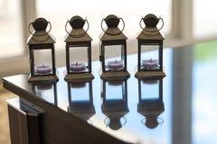 Línea de luces de una vela Imagenes de archivo