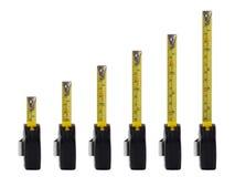 Línea de medición de las cintas Imagen de archivo libre de regalías