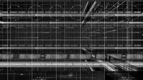 Línea de números lazo del fondo 4K de la tecnología del círculo de la cacerola de 3d ilustración del vector