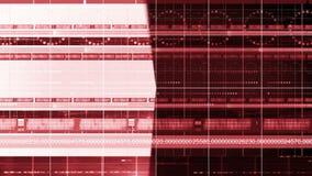 Línea de números lazo del fondo 4K de la tecnología del círculo de la cacerola de 3d stock de ilustración