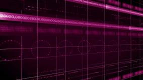Línea de números LAZO del fondo 4K de la tecnología del círculo libre illustration