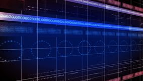 Línea de números LAZO del fondo 4K de la tecnología del círculo stock de ilustración