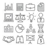 Línea de negocio iconos Imágenes de archivo libres de regalías