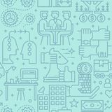 Línea de negocio modelo inconsútil del vector de los iconos stock de ilustración