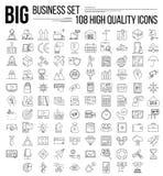 Línea de negocio sistema del icono libre illustration