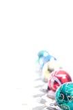 Línea de ornamentos de la Navidad Fotos de archivo libres de regalías