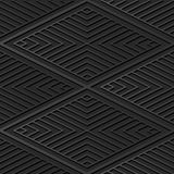 línea de papel oscura de Diamond Check Cross Vortex Frame del arte 3D Fotografía de archivo