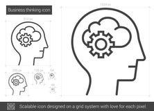 Línea de pensamiento icono del negocio stock de ilustración