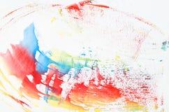 Línea de pintura hermosa de la acuarela Fotos de archivo