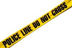 Línea de policía Imagen de archivo libre de regalías