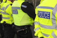 Línea de policía Imágenes de archivo libres de regalías
