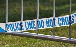 Línea de policía cinta foto de archivo libre de regalías