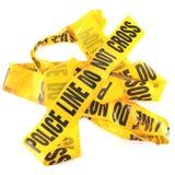 Línea de policía cinta Imagenes de archivo