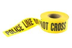 Línea de policía cinta del crimen Fotografía de archivo