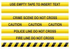 Línea de policía cintas Fotografía de archivo libre de regalías