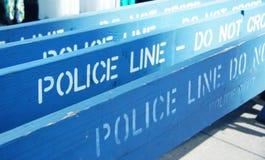 Línea de policía - no cruce Fotos de archivo