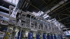 Línea de producción del papel pintado, instalación de producción del papel pintado, instalación del transportador de producción m almacen de video