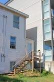 Línea de propiedad y división residencial fotos de archivo