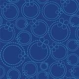 Línea de puntos de los círculos Ilustración del Vector