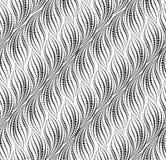 Línea de puntos ondulada modelo inconsútil Textura ondulada ornamental stock de ilustración
