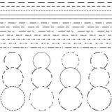 Línea de puntos para el corte Fotos de archivo libres de regalías